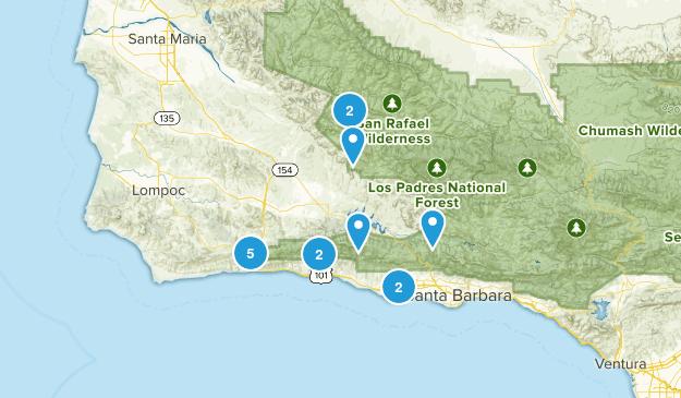 Goleta, California Nature Trips Map