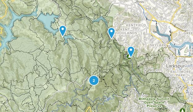 Greenbrae, California Hiking Map