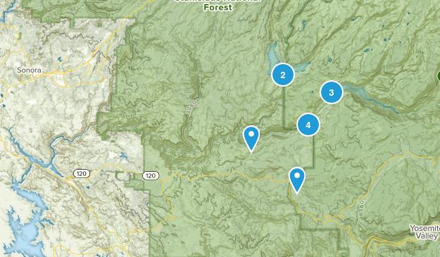 Groveland, California Hiking Map