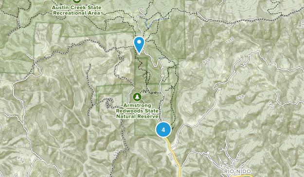 Guerneville, California Birding Map