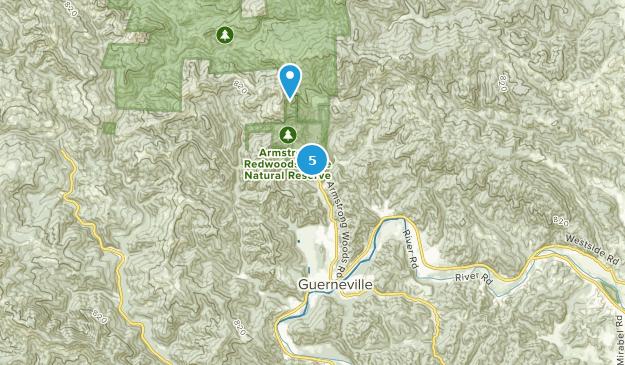 Guerneville, Kalifornien Bird Watching Map