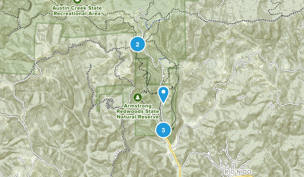 Guerneville, California Nature Trips Map