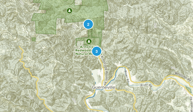Guerneville, California Walking Map