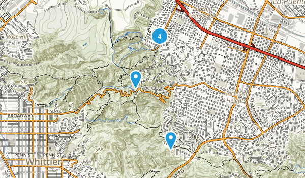 Hacienda Heights, California Hiking Map