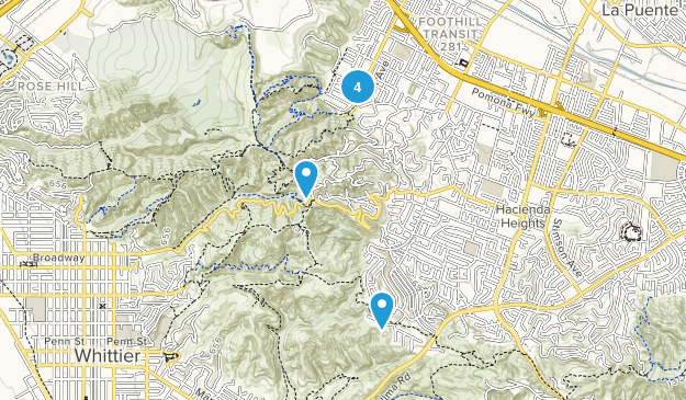 Hacienda Heights, California Views Map