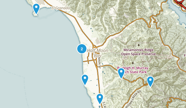 Half Moon Bay, California Birding Map