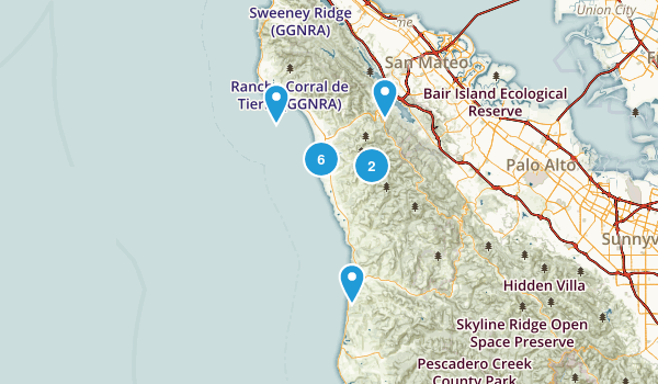 Half Moon Bay, California Hiking Map