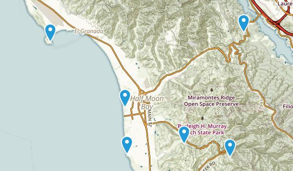 Half Moon Bay, California Mountain Biking Map