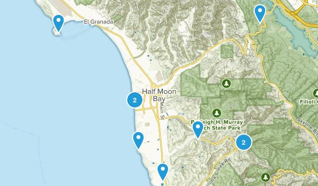 Half Moon Bay, California Trail Running Map