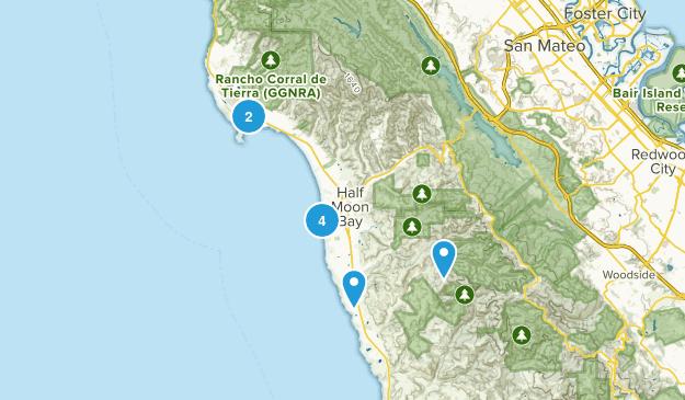 Half Moon Bay, California Views Map