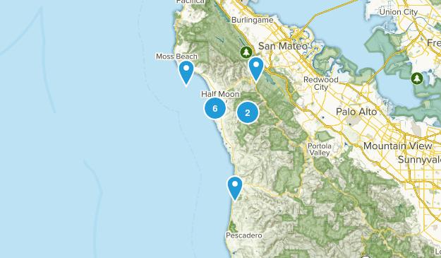 Half Moon Bay, California Walking Map
