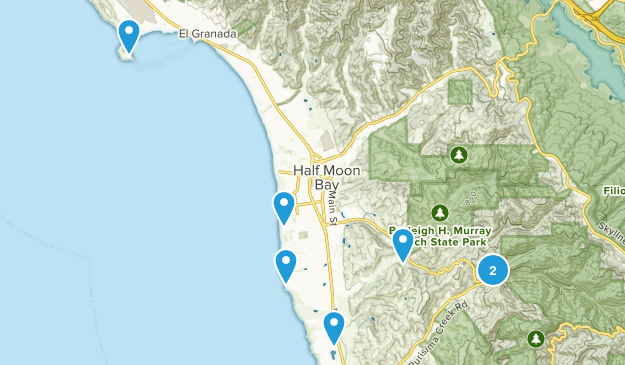 Half Moon Bay, California Wild Flowers Map