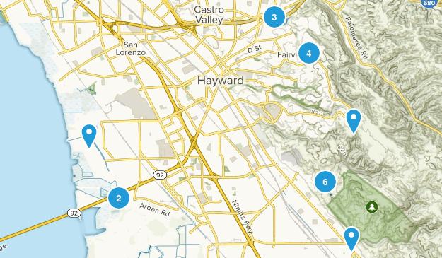 Hayward, California Birding Map