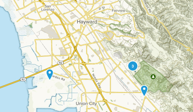 Hayward, California Dog Friendly Map