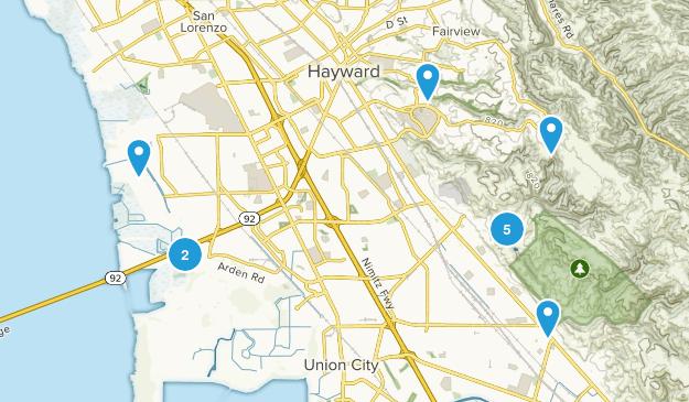Hayward, California Wildlife Map