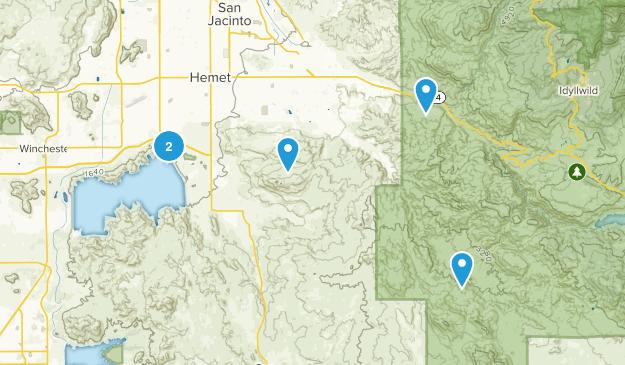 Hemet, California Hiking Map