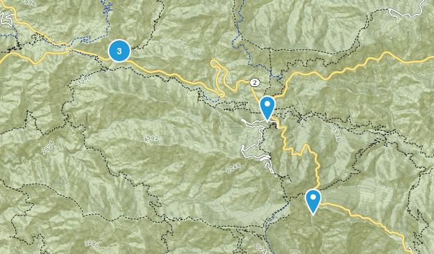 Hidden Springs, California Trail Running Map