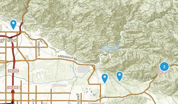 Highland, California Dogs On Leash Map