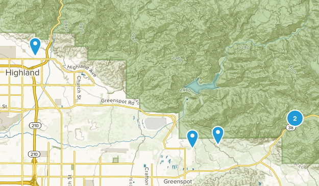 Highland, California Dogs On Leash Map