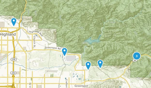 Highland, California Hiking Map