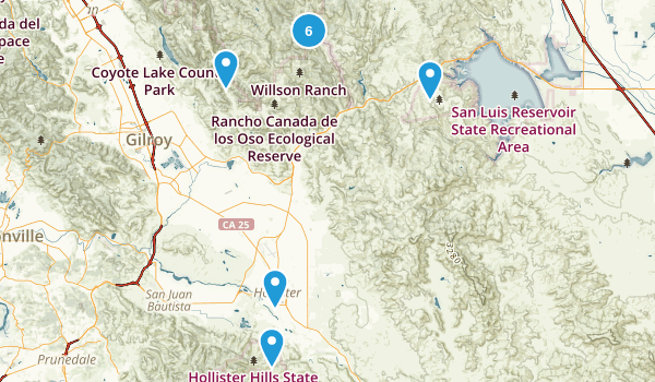 Hollister, California Birding Map