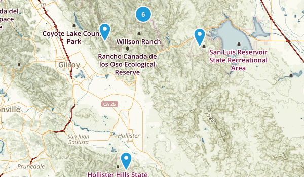 Hollister, California Hiking Map