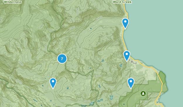 Homewood, California Hiking Map