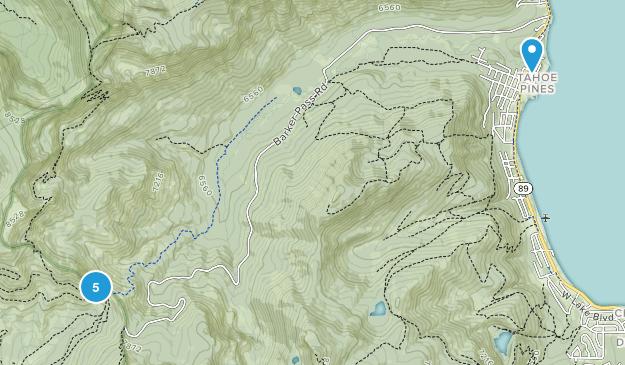 Homewood, California Nature Trips Map