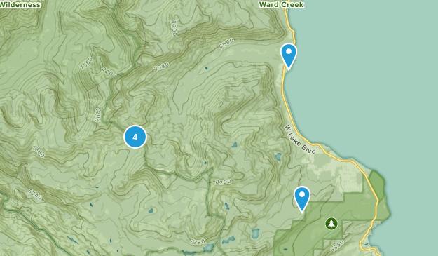 Homewood, California Walking Map