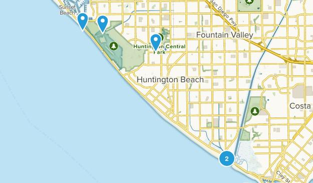 Huntington Beach, California Birding Map