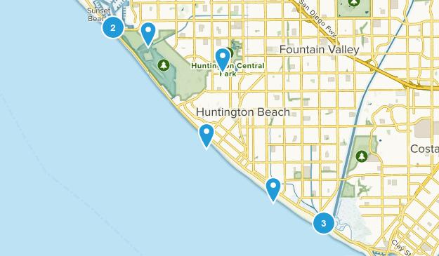 Huntington Beach, California Kid Friendly Map