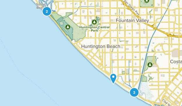 Huntington Beach, California Views Map