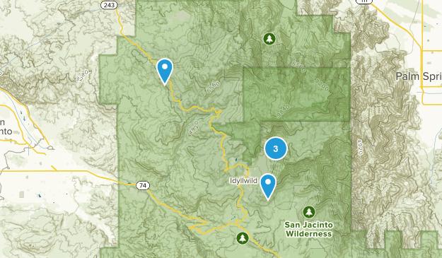 Idyllwild, California Dog Friendly Map