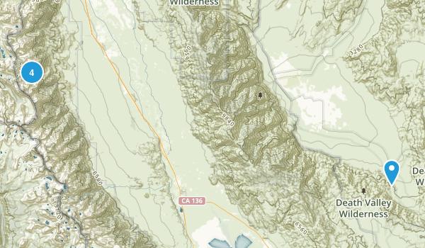 Independence, California Camping Map