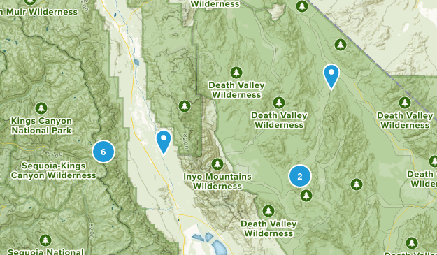 Independence, California Nature Trips Map