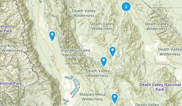 Independence, California Off Road Driving Map