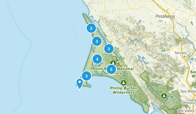Inverness, California Hiking Map
