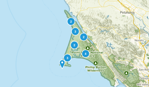 Inverness, California Nature Trips Map
