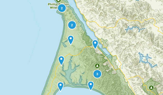 Inverness, California Trail Running Map