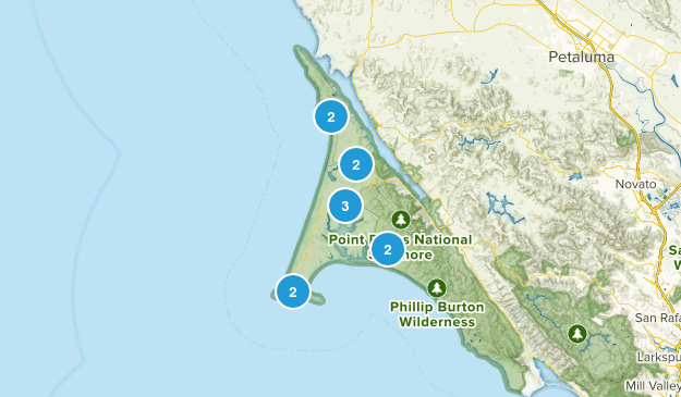 Inverness, California Wild Flowers Map