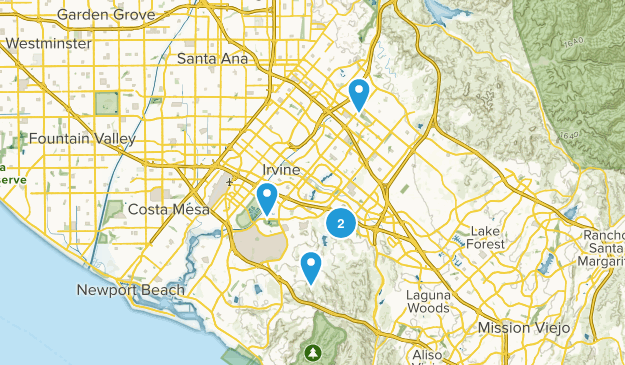 Irvine, California Wildlife Map