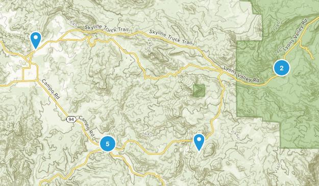 Jamul, California Trail Running Map