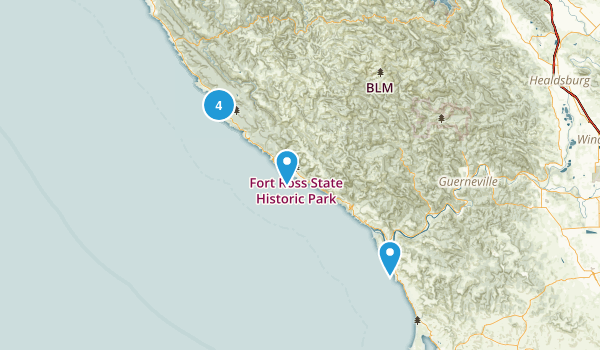 Jenner, California Nature Trips Map