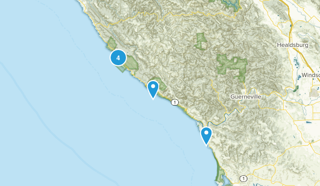 Jenner, California Nature Trips Map