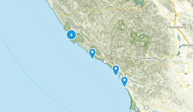 Jenner, California Walking Map