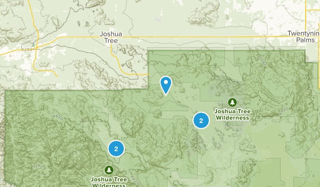 Joshua Tree, Kalifornien Bird Watching Map