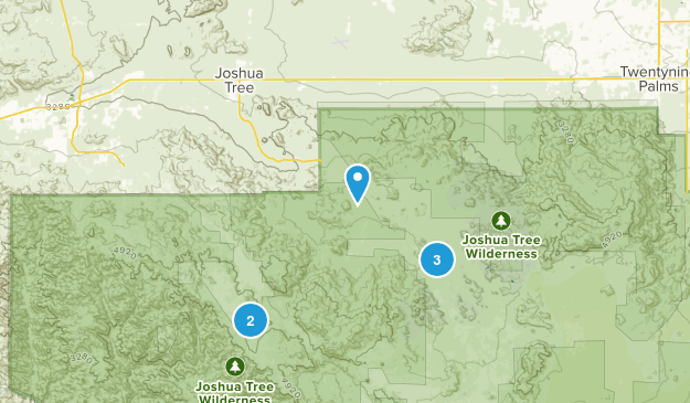 Joshua Tree, California Hiking Map