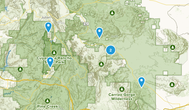 Julian, California Camping Map