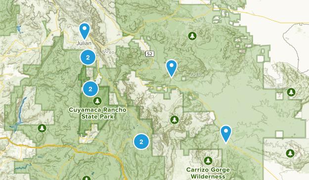 Julian, California Forest Map