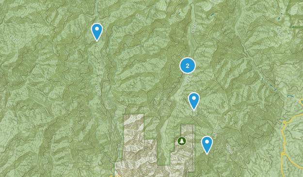 Junction City, California Hiking Map